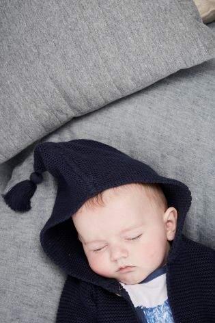 Boys Navy Hooded Cardigan (0mths-2yrs) - Blue