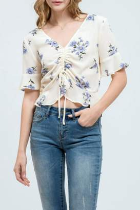 Blu Pepper Floral Crop Top