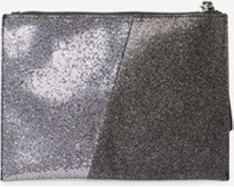 Dorothy Perkins Womens Grey 'Pewter' Glitter Panel Wristlet