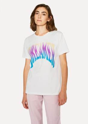Paul Smith Women's White 'Dreamer' Print T-Shirt