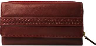 Hidesign Mina-W3-RD Mina Trifold Leather Wallet