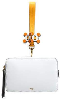 Anya Hindmarch Stack Color-Block Leather And Suede Clutch