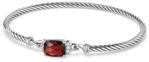 David Yurman Davidyurman Petite Wheaton Bracelet With Garnet And Diamonds