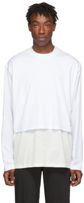 Givenchy White Overlay Long Sleeve T-Shirt