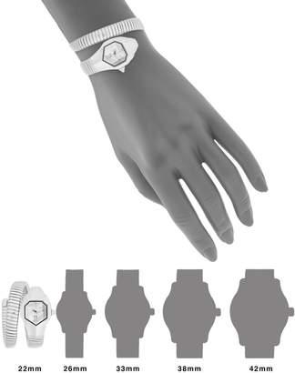 Just Cavalli Stainless Steel Snake Wrap Cuff Watch