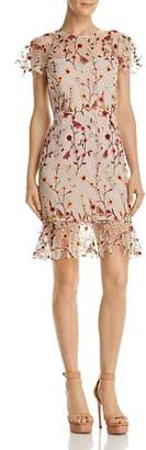 Aqua Butterfly Floral Embroidered Dress - 100% Exclusive