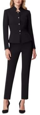 Tahari ASL Star-Neck Pants Suit