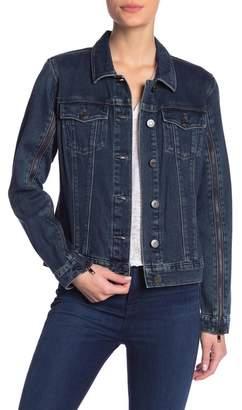 Skinnygirl Smoothers & Shapers Zipper Sleeve Denim Jacket