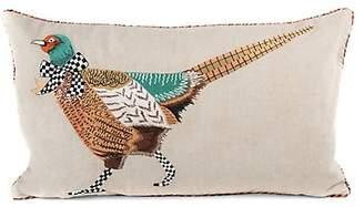 Mackenzie Childs MacKenzie-Childs Pheasant Lumbar Pillow