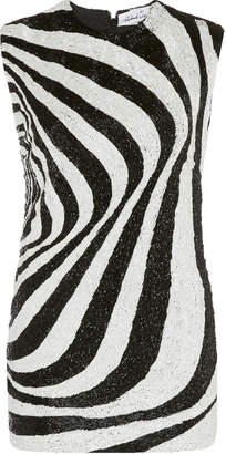 Richard Quinn Zebra Pattern Glass-Beaded Top