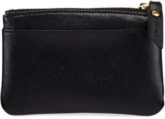 Neiman Marcus Saffiano Leather Zip Coin Purse