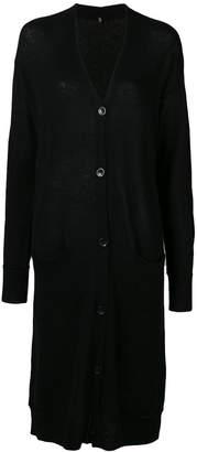 R 13 cashmere long length cardigan