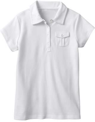 Chaps Girls 7-16 Interlock School Uniform Polo