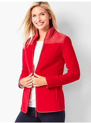 Talbots Solid Polar Fleece Jacket