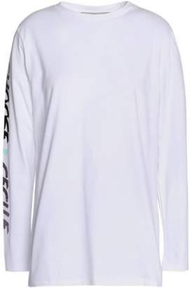 COM Être Cécile Metallic Printed Cotton-Jersey T-Shirt