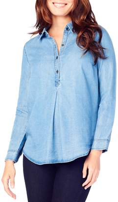 Ingrid & Isabel Long Sleeve Pleated Shirt