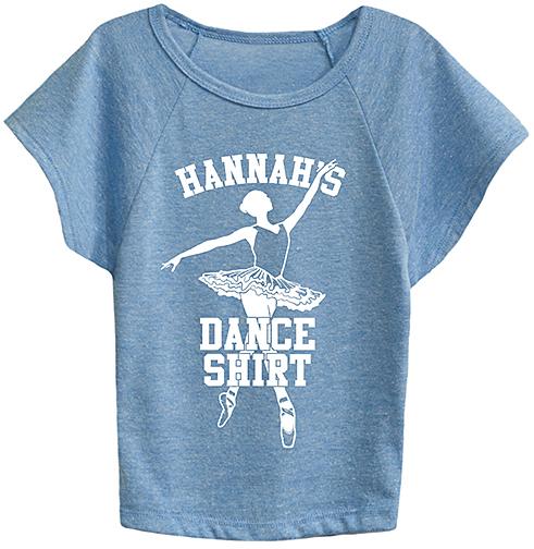 Carolina Blue 'Dance Shirt' Personalized Dolman Tee - Toddler & Girls