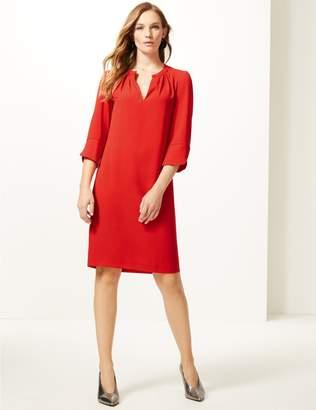 Marks and Spencer Satin 3/4 Sleeve Shift Dress
