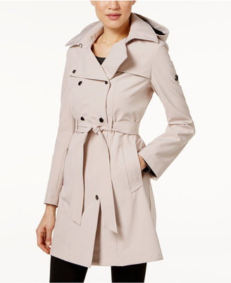 Calvin Klein Hooded Belted Raincoat $99.98 thestylecure.com