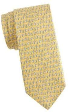 Salvatore Ferragamo Polar Bear Wearing Scarf Silk Tie