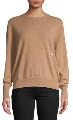 Sandro Cashmere Logo Embroidered Sweater