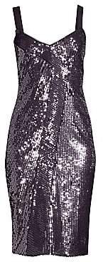 Parker Black Women's Beau Combo Sequin Sheath Dress