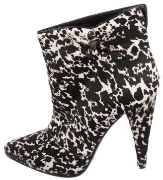 Sigerson Morrison Ponyhair Pointed-Toe Booties