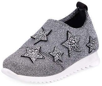 Giuseppe Zanotti Natalie Sparkle Star Sneakers, Toddler Sizes 4-9