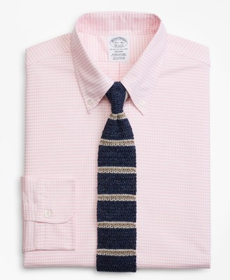 Brooks Brothers Original Polo Button-Down Oxford Regent Fitted Dress Shirt, Gingham