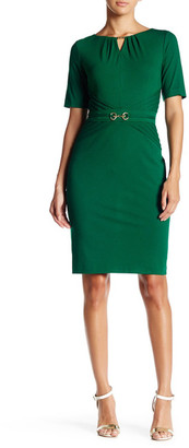 Ellen Tracy Short Sleeve Belted Shift Dress $128 thestylecure.com