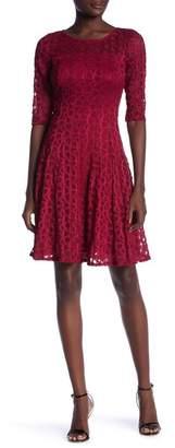 Rabbit Rabbit Rabbit Lace Fit & Flare Dress