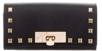 2652a5870f5967 MICHAEL Michael Kors Leather Flip-Lock Wallet