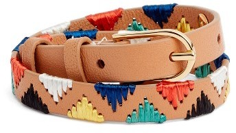 Tory Burch Women's Tory Burch Embroidered Leather Bracelet