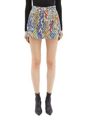 Simon Miller Paintstroke print denim mini skirt