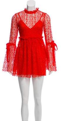 Alice McCall Bell Sleeve Lace Dress