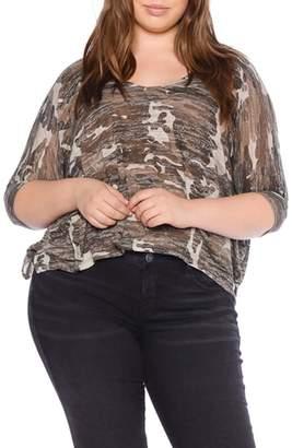 SLINK Jeans Camo Print Shirt
