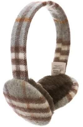 Burberry Cashmere Nova Check Ear Muffs w/ Tags