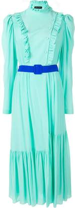 Anna October belted ruffle-trimmed dress