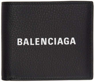 Balenciaga Black Logo Everyday Wallet