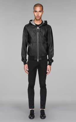 Mackage WOODROW Bonded leather jacket with kangaroo pocket