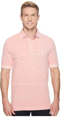 Nautica Short Sleeve Garment Dyed Polo Men's Short Sleeve Pullover