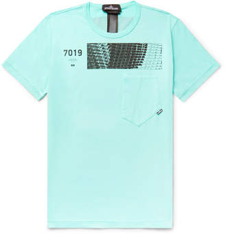 230b2548 Stone Island Shadow Project Printed Cotton-Jersey T-Shirt