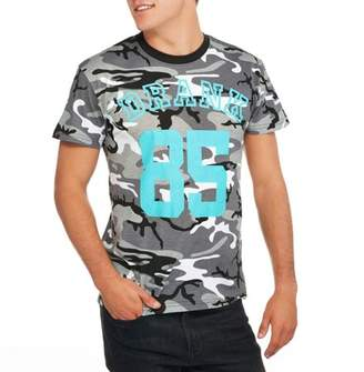 "Humör Camouflage ""DRANK"" Jersey Style # 85 Big Men's Camo Short Sleeve Graphic T-Shirt, 2XL"