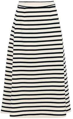 Alexander Wang Striped Cotton-Jersey Midi Skirt