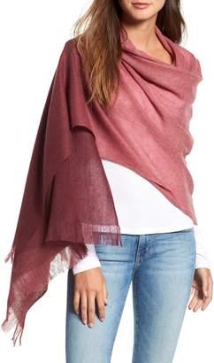 Nordstrom Caslon Dip Dye Cashmere Wrap