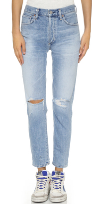 Citizens of Humanity Liya High Rise Classic Fit Jeans $258 thestylecure.com