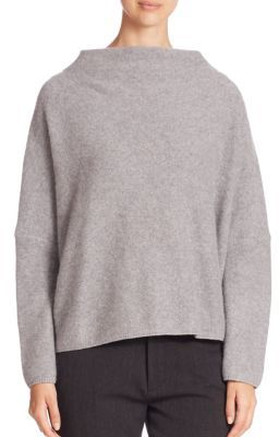 Vince Funnel Neck Cashmere Sweater $385 thestylecure.com