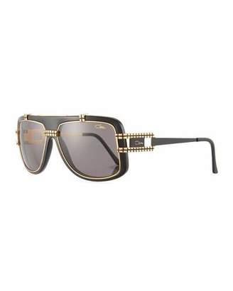 Cazal Men's Acetate/Metal Shield Sunglasses
