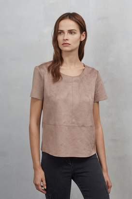 Great Plains Easily Swaid Faux Suede Top