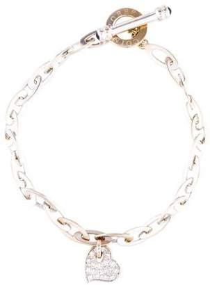 Roberto Coin 18K Diamond & Sapphire Heart Chic & Shine Charm Bracelet